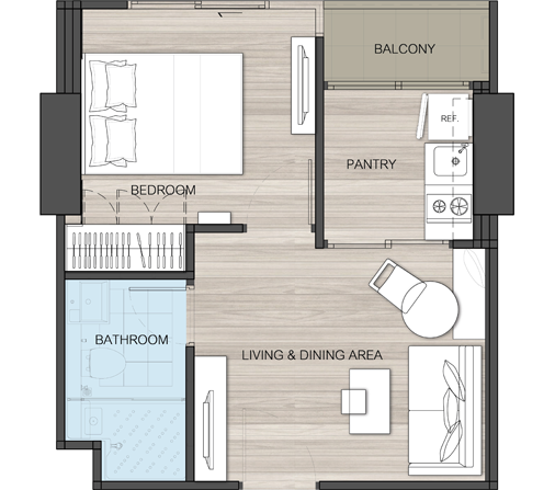 Skyline rattanathibet Room layout